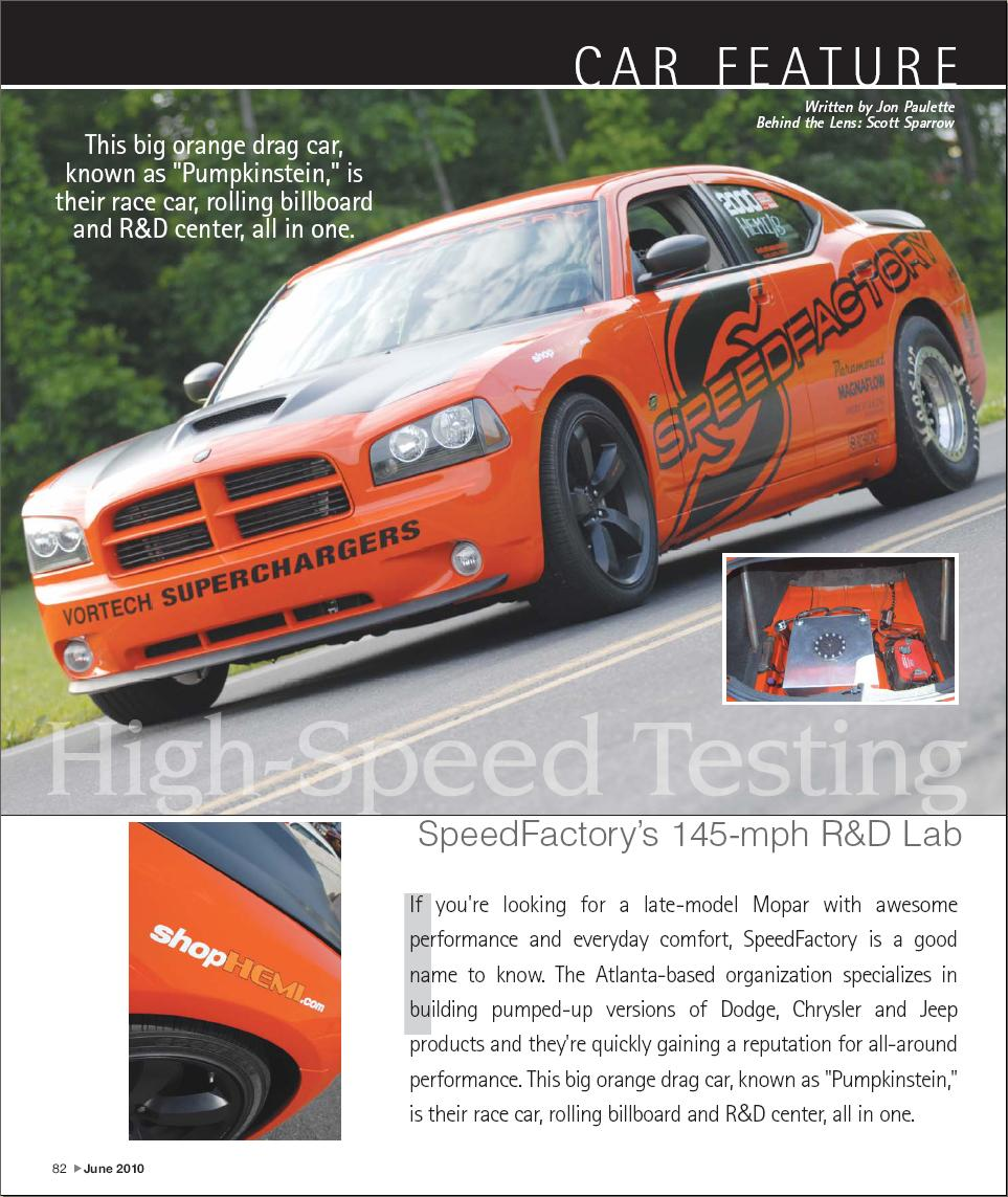 speedfactory 39 s 426 charger featured in fastest street car magazine modern mopar muscle cars. Black Bedroom Furniture Sets. Home Design Ideas